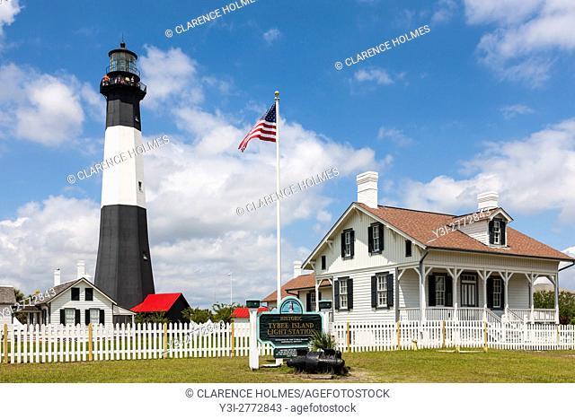 The Tybee Island Light Station on Tybee Island near Savannah, Georgia