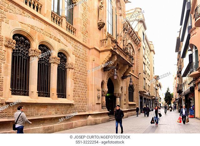 Sabadell central bank headquarters, Caixa de Sabadell, Sabadell, Barcelona province, Catalonia, Spain