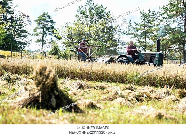 Two men working at farm
