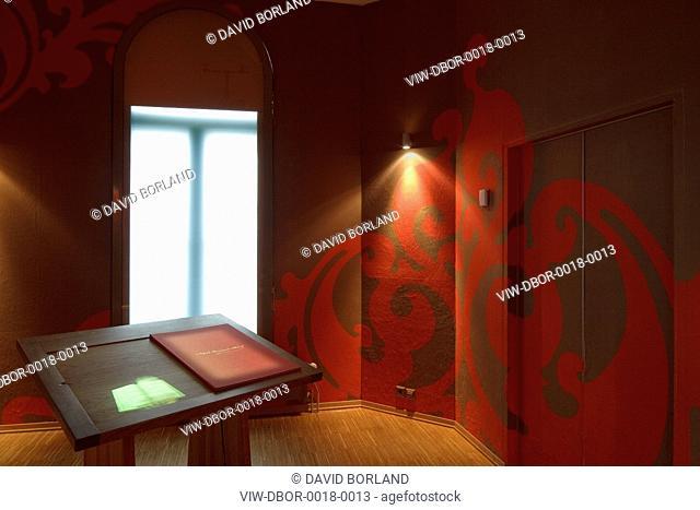 Nobel Peace Center, Adjaye Associates, Oslo Norway, 2005, Exhibition room with interactive book installation, ADJAYE ASSOCIATES, NORWAY, Architect