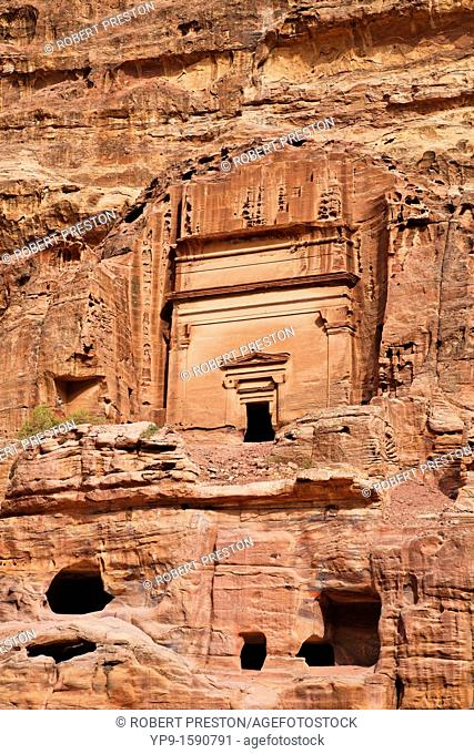 Rock cut tombs at Petra, Jordan