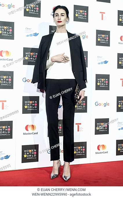Celebrities attends Women in the World Summit in Sloane Square, London. Featuring: Erin O'Connor Where: London, United Kingdom When: 08 Oct 2015 Credit: Euan...