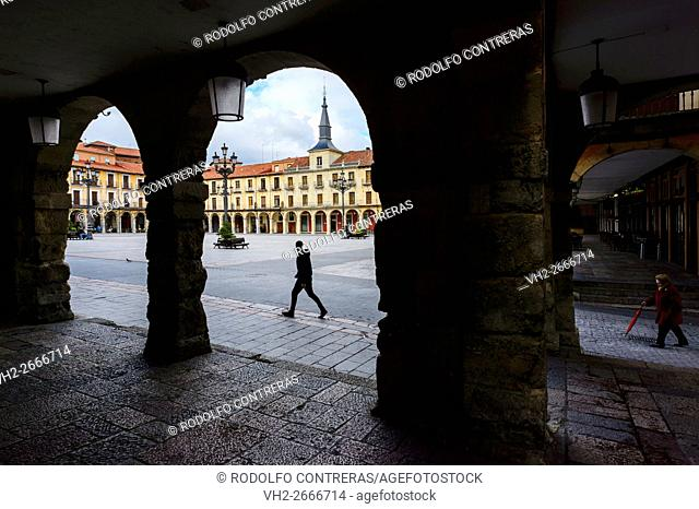 Mayor square, Leon (Spain)