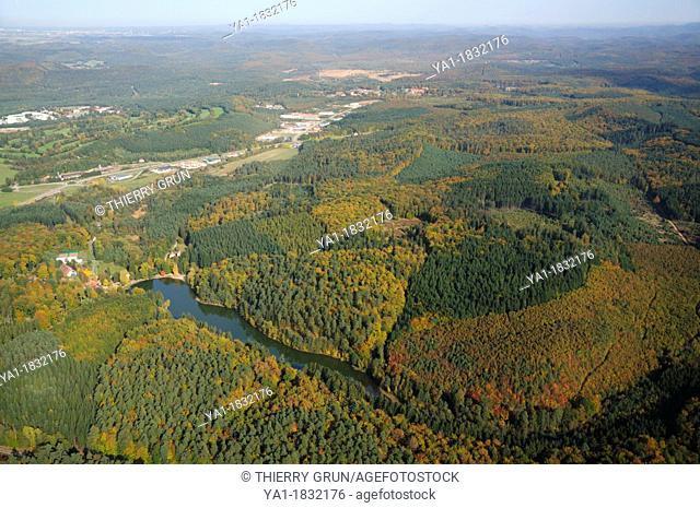 Etang d'Hasselfurt, Bitche, Natural regional park of Northern Vosges, , Moselle, Lorraine, France