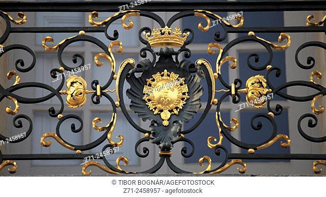 France, Bourgogne, Dijon, historic architecture, detail