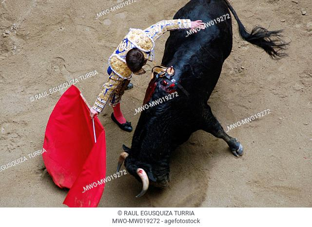The traditional spectacle of bullfighting, in La Macarena bullring, in Medellin, Colombia February, 2007 Medellin, Colombia's second largest city has a variety...