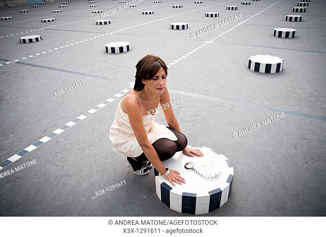 Woman Palais Royal in Paris France