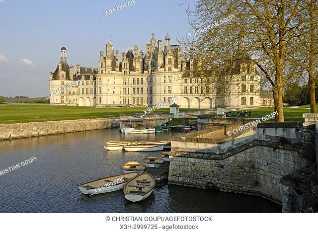 Chateau de Chambord, Loir-et-Cher department, Centre-Val de Loire region, France, Europe