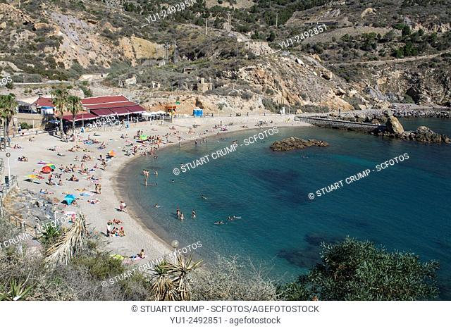 Bay at Cala Cortina near to the city of Cartagena