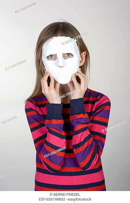 little girl with mask