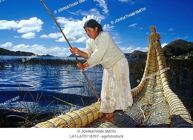 The Uros are an indigenous people that live on Lake Titicaca upon floating islands fashioned from the Totora reed. They also use the Totora plant to make boats...