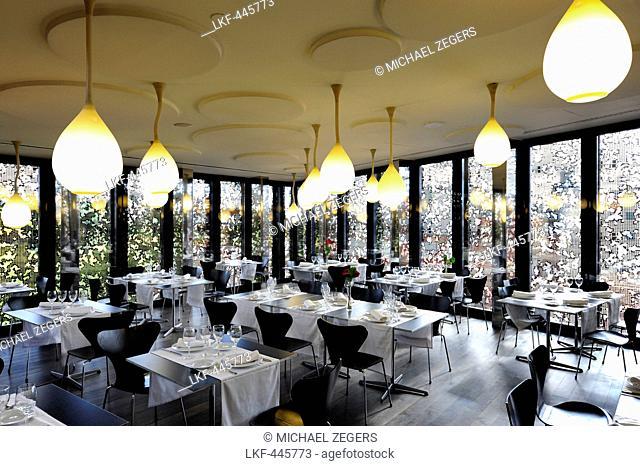 Interior decoration, Arturo Restaurant to La CaixaForum Madrid, Herzog and de Meuron Architects, city center, Madrid, Spain