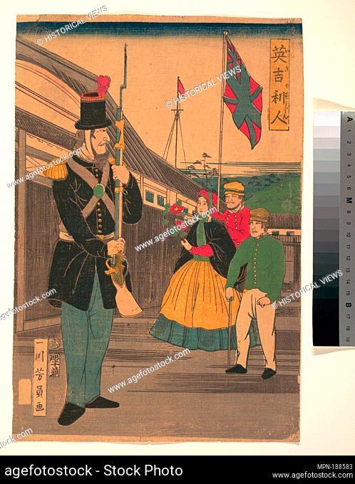 Igirisujin/英吉利人/Englishmen. Artist: Utagawa Yoshikazu (Japanese, active ca. 1850-1870); Date: ca. 1862; Culture: Japan; Medium: Polychrome woodblock...