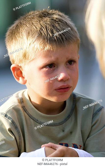Portrait of a sad Scandinavian boy Mariefred Sweden