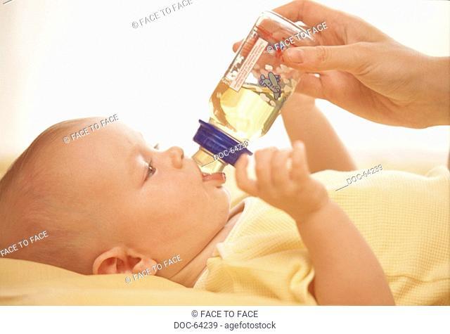 Baby gets vials