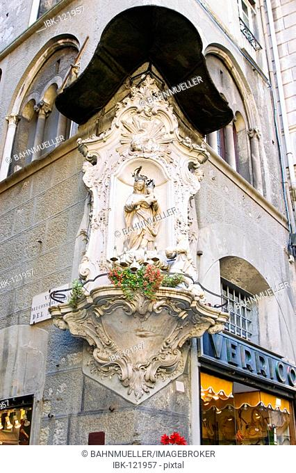 Genoa Genova Liguria Italy St Mary patron saint of the town
