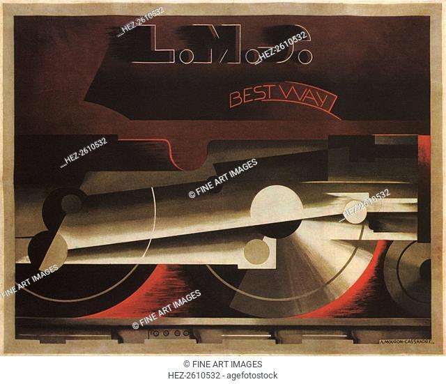 The London, Midland and Scottish Railway (LMS), 1928. Artist: Cassandre, Adolphe Mouron (1901-1968)