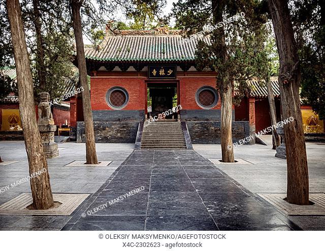 Shaolin Temple front entrance in DengFeng, Zhengzhou, Henan Province, China 2014