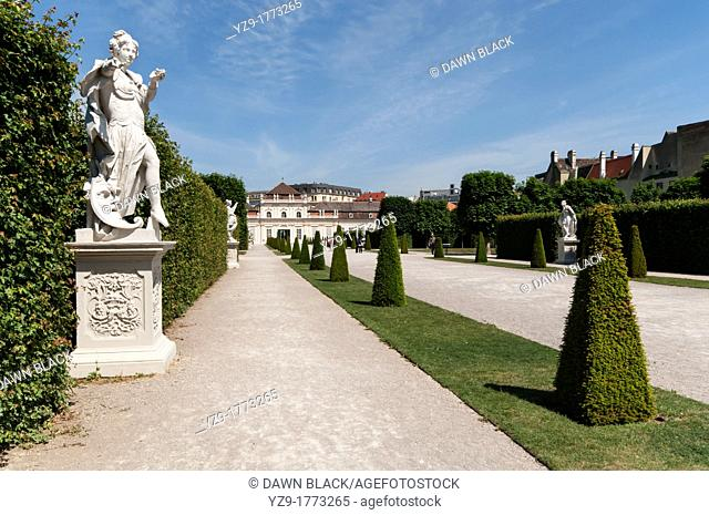 Avenue of the Eight Muses, Lower Belvedere, Vienna, Austria