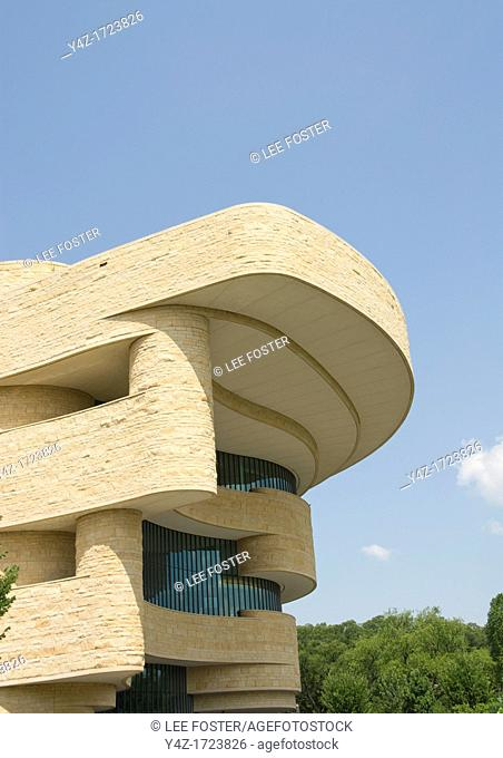 Washington DC, USA, National Museum of the American Indian, an inspiring example of architecture on the Mall