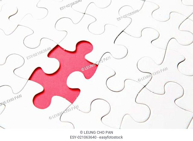 Puzzle, one peace missing