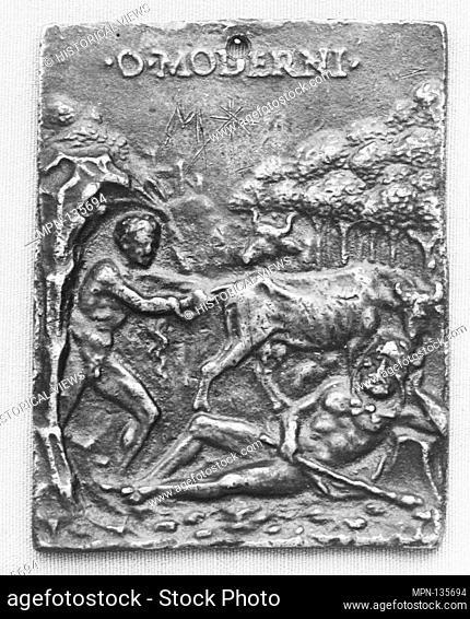 Cacus Stealing the Oxen of Hercules. Artist: Moderno (Galeazzo Mondella) (Italian, Verona 1467-1528 Verona); Date: 16th century; Culture: Italian; Medium:...