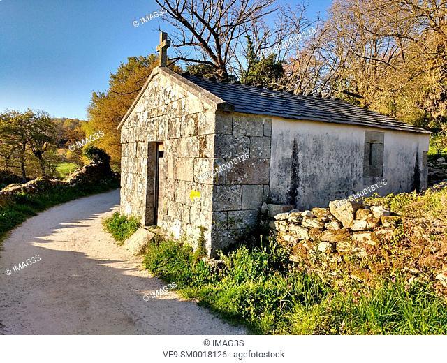 Chapel in Morgade, Lugo province, Spain