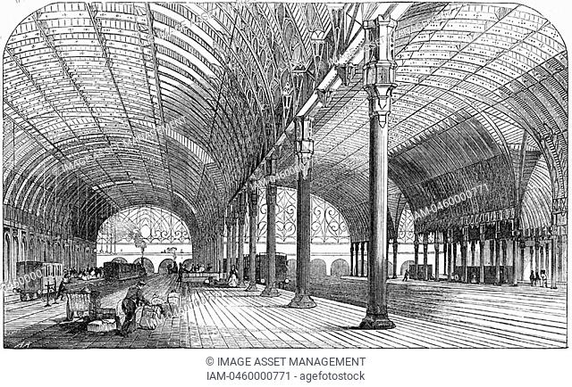 Paddington Station, the London terminus of the Great Western Railway, 1854  Iron was used in the construction of the roof
