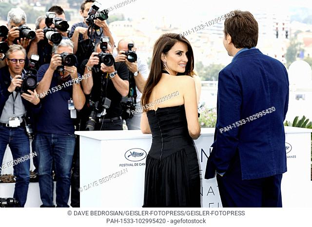 Penelope Cruz and Javier Bardem at the 'Everybody Knows / Todos lo saben' photocall during the 71st Cannes Film Festival at the Palais des Festivals on May 09