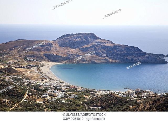 Plakias beach and village, Crete island, Greece, Europe