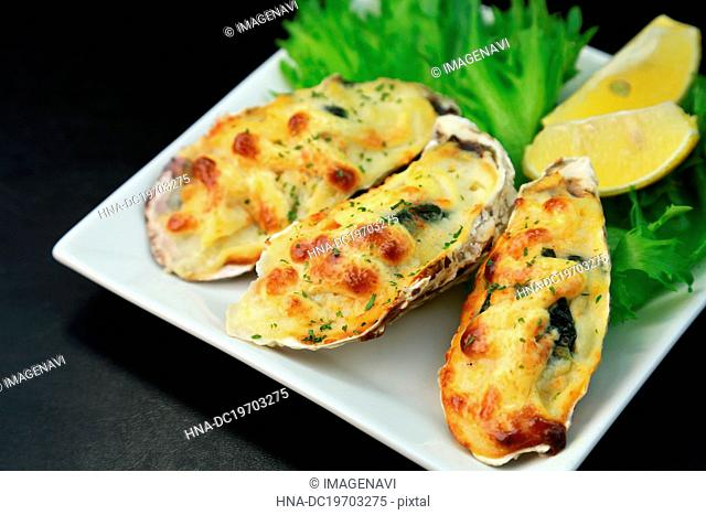 Coquille of oysters