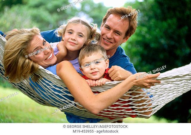 family on a hamock