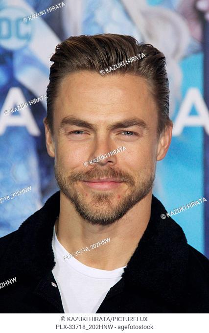 """Derek Hough 12/12/2018 """"""""Aquaman"""""""" Premiere held at the TCL Chinese Theatre in Hollywood, CA Photo by Kazuki Hirata / HNW / PictureLux"""