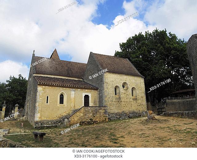 chapel at Bonaguil Castle, Bonaguil, Lot-et-Garonne Department, Nouvelle Aquitaine, France