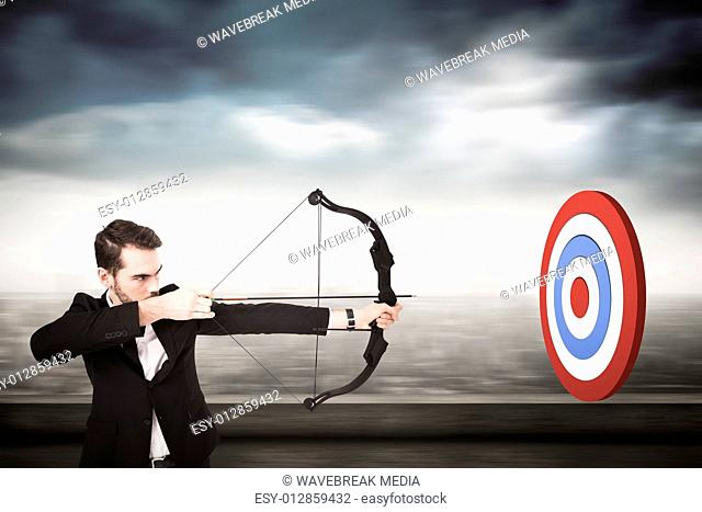 45304352949f Man shooting bow and arrow Stock Photos and Images | age fotostock