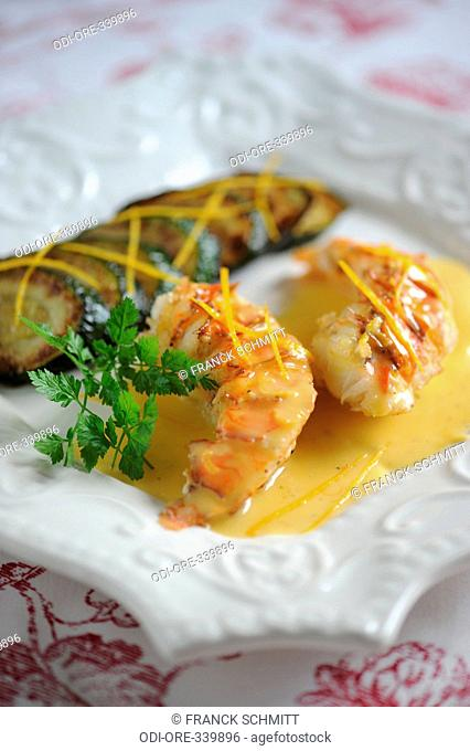 Lobster with citrus butter