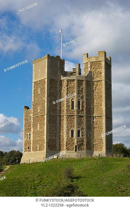 Norman Keep castle at Suffolk, Orford East Anglia,England  Near Aldeburgh