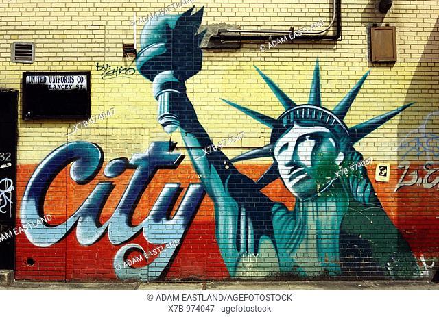 Manhattan, New York, USA  Graffiti mural on the Lower East Side