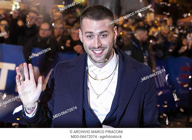 on the Red Carpet of the 69th Sanremo Music Festival. Sanremo (Italy), Fabruary 4th, 2019