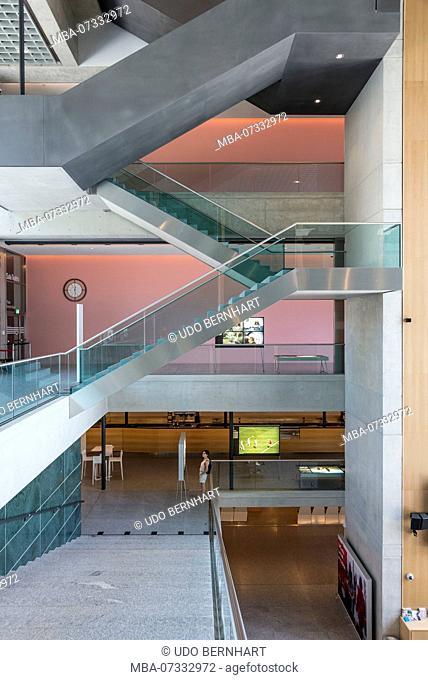 Art and Cultural Center Museo d'arte della Svizzera italiana LAC by Ticinese architect Ivano Gianola, Lugano, Lake Lugano, Ticino, Switzerland