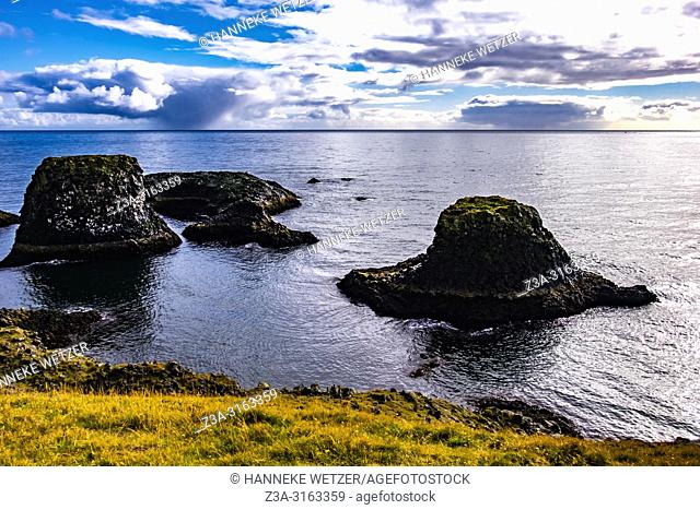 The extraordinary columnar basalt and cliff formations on Snaefellsnes peninsula, Iceland