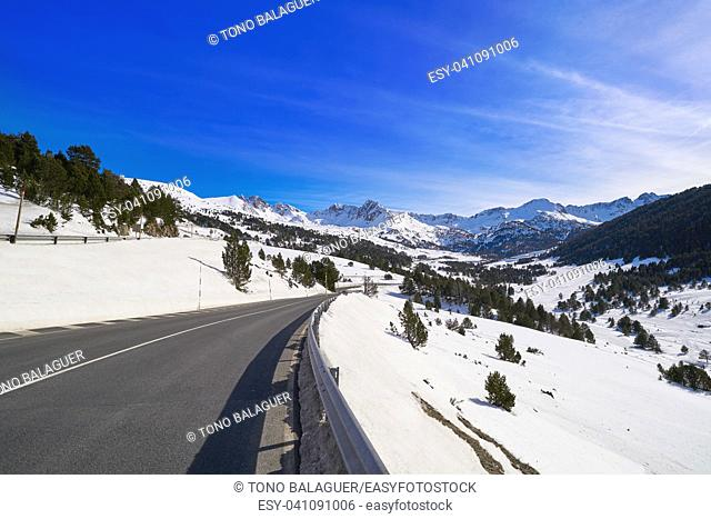 Grau Roig ski resort in Andorra at Grandvalira sector Pyreenees