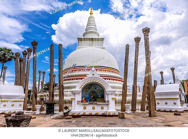 Thuparama Dagoba, Sacred City of Anuradhapura, North Central Province, Sri Lanka, Asia