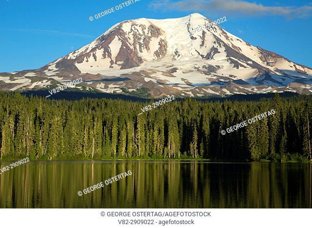 Mt Adams from Takhlakh Lake, Gifford Pinchot National Forest, Washington