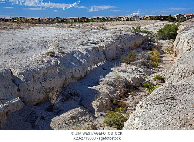 Las Vegas, Nevada - Tule Springs Fossil Beds National Monument, a rich paleontological area established in December 2014 to protect fossils of such extinct...