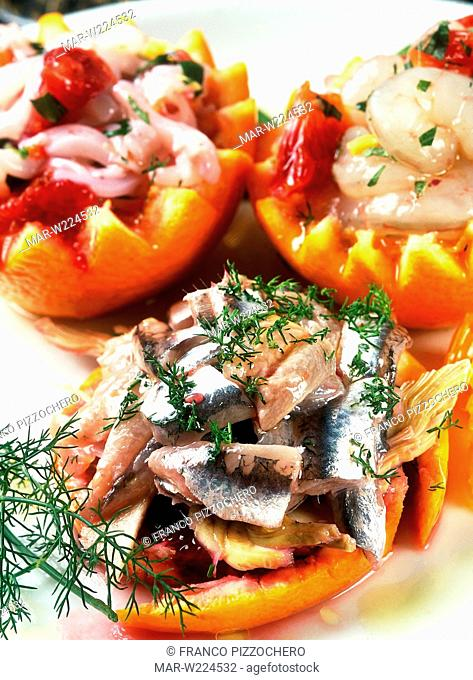 picled fish, anchovies, cuttlefish, shrimps