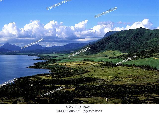Mauritius Island, Western coast, landscape in the Morne region