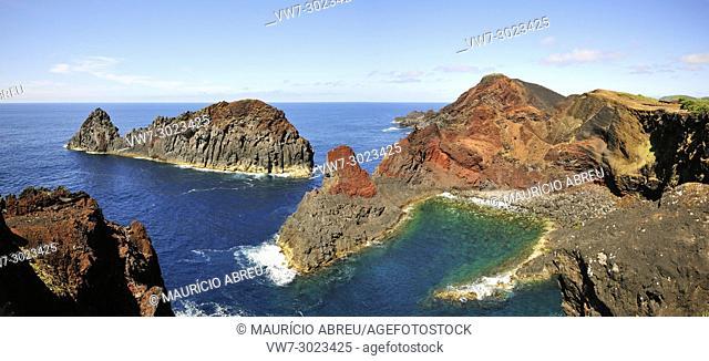 "The """"whale"""", a rock formation at Ponta da Barca. Graciosa island, Azores. Portugal"