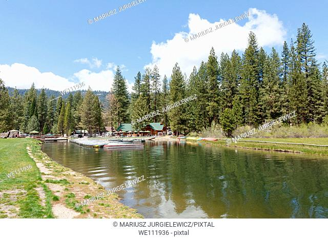 Hume Lake is an artificial lake in the Sequoia National Forest of Fresno County, California