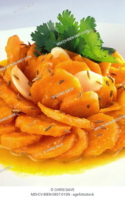 Salad of carrots in the Moroccan style - Dietetic menu